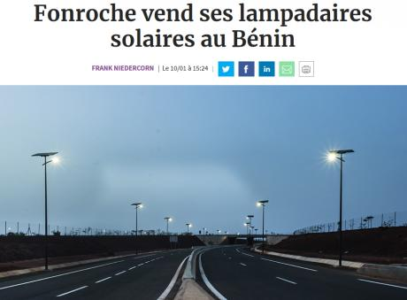 Fonroche Lighting sells 15,000 solar streetlights to Benin