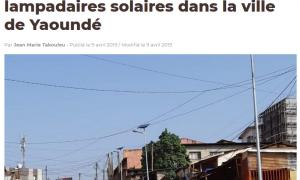 Fonroche installs solar street lamps in Yaoundé