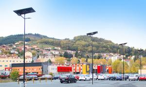 Tarare station chooses solar lighting for station parking