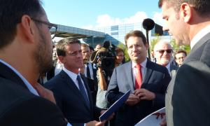 French Prime Minister visits Fonroche Solar Lighting Plant