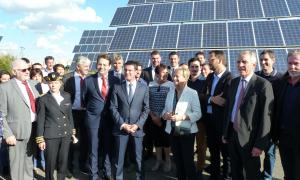 French Prime Minister visit to Fonroche Solar Lighting