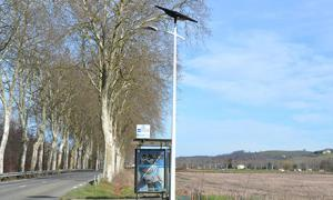 Fonroche Streetlights Implantation in Montesquieu-Guittaut