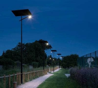 Public lighting of a greenway