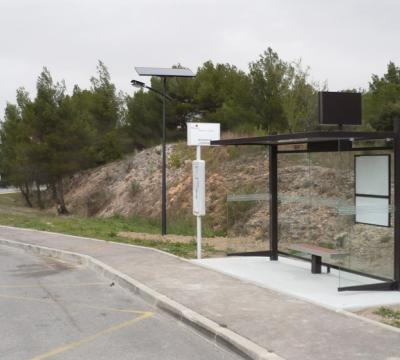 Public lighting for a bus shelter