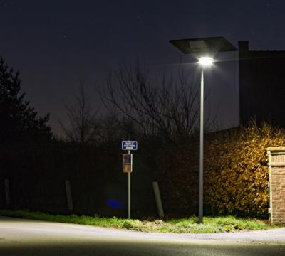 Urban solar street lights in country roads