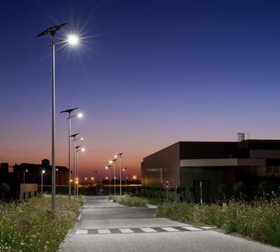 Lighting of a comercial areas in Chateaubernard