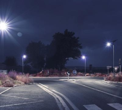 Public lighting of Cruscades roundabout