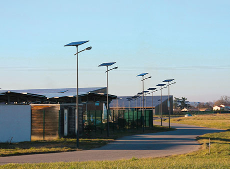 Fonroche Solar Street Lamps Tested in Roquefort, France