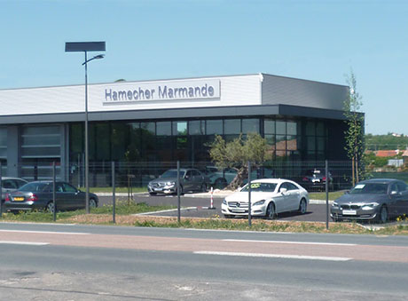 Mercedes Car Dealership in Marmande lighted by Fonroche